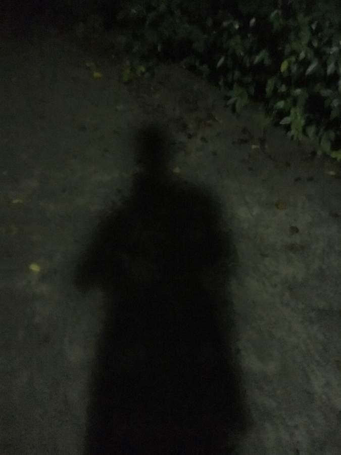 怪しい影の男