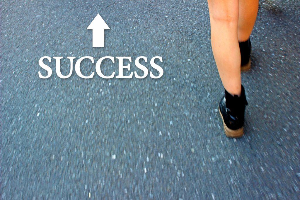 成功へ進む子供
