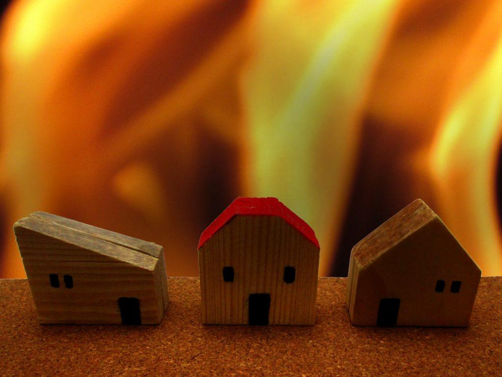 火事が発生する家
