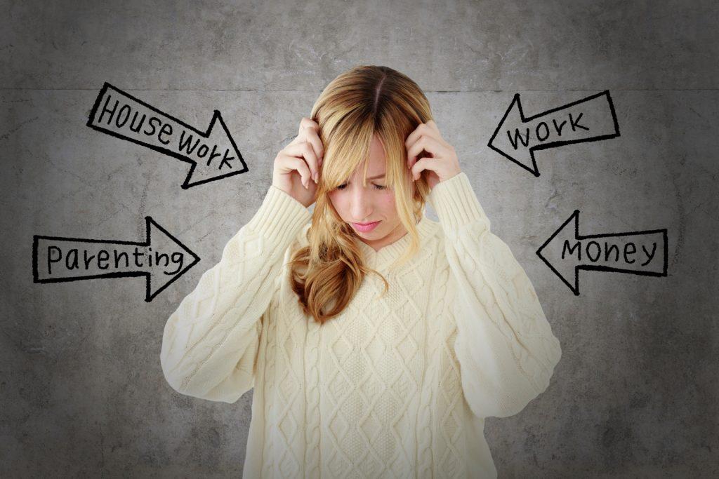 ストレスに耐えている女性