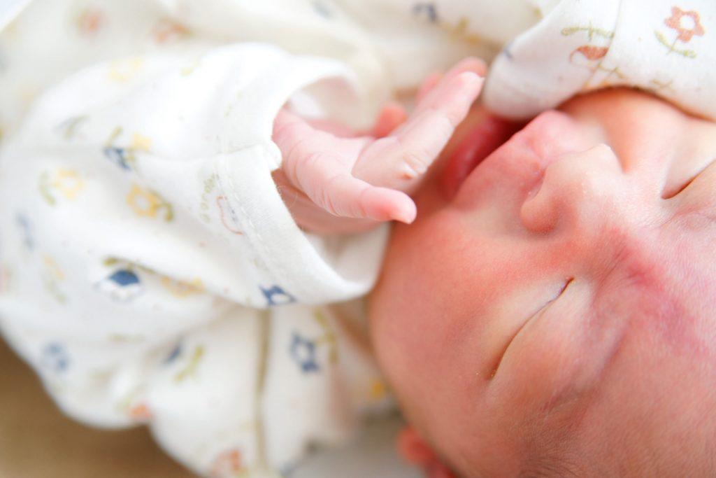 生まれた赤ちゃん